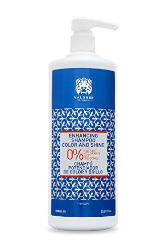 Válquer Champú Potenciador del Color y Brillo: sin sal, sin sulfatos, sin parabenos y sin siliconas - 1000 ml