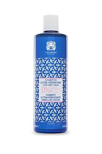 Válquer Premium Champú Ultrahidratante cabellos secos sin sal, sin sulfatos, sin parabenos y sin Siliconas - 400 ml